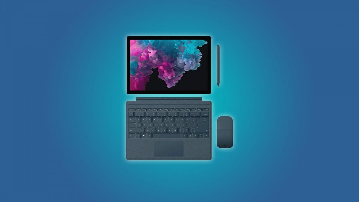 The Surface Pro 6 tablet