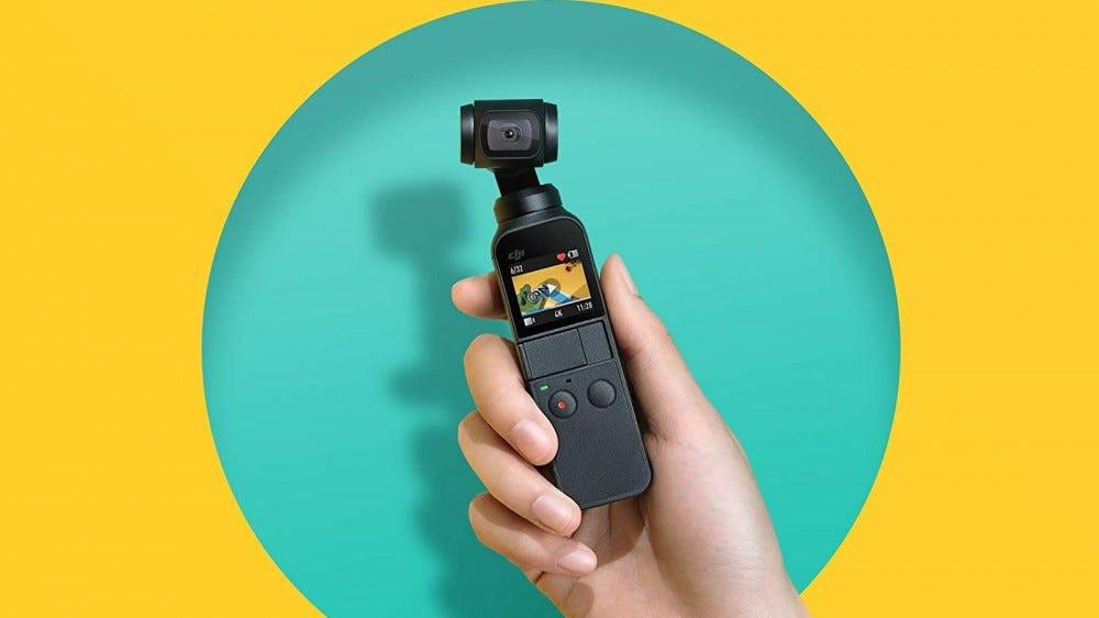 A photo of the DJI Osmo gimbal camera.