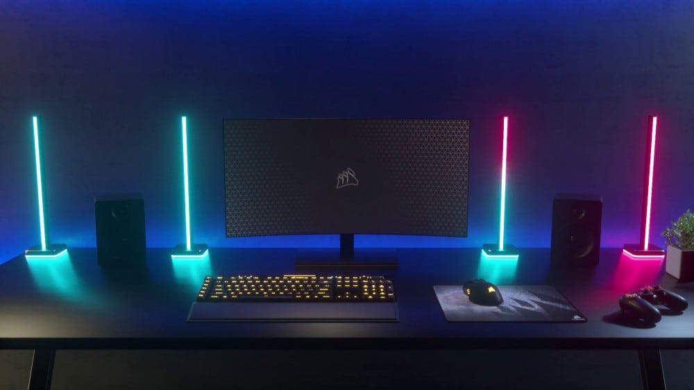 Corsair iCUE lighting towers