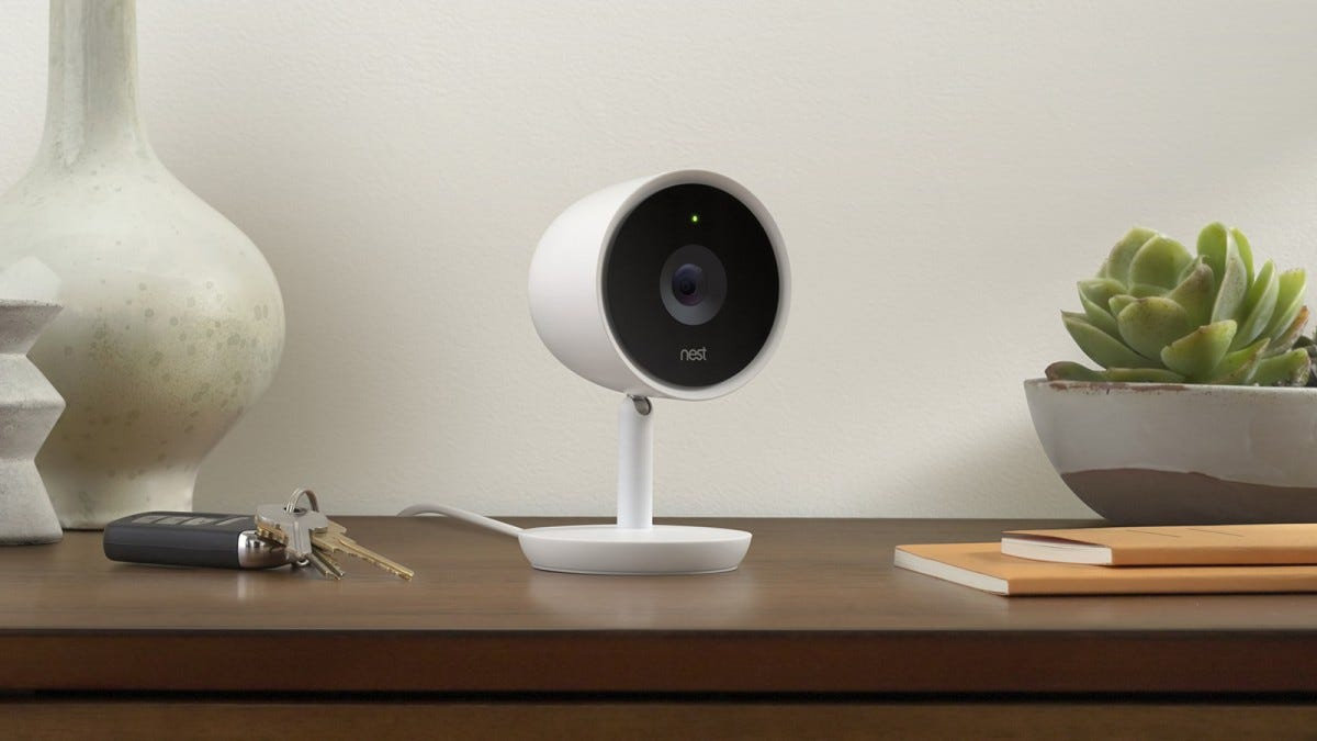 Nest IQ indoor camera on a table