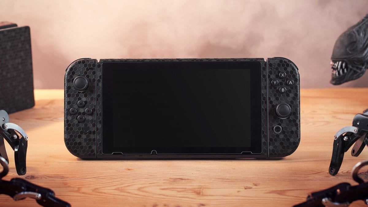 A photo of a Nintendo Switch dbrand skin