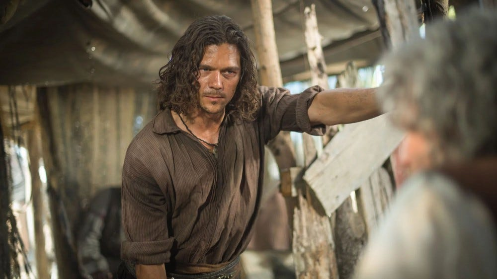 John Silver in black sails