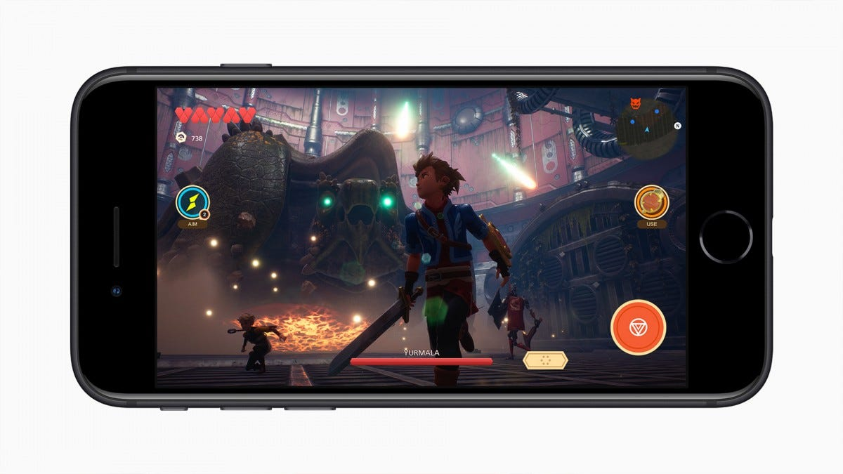 A photo showing the iPhone SE 2 in-game.