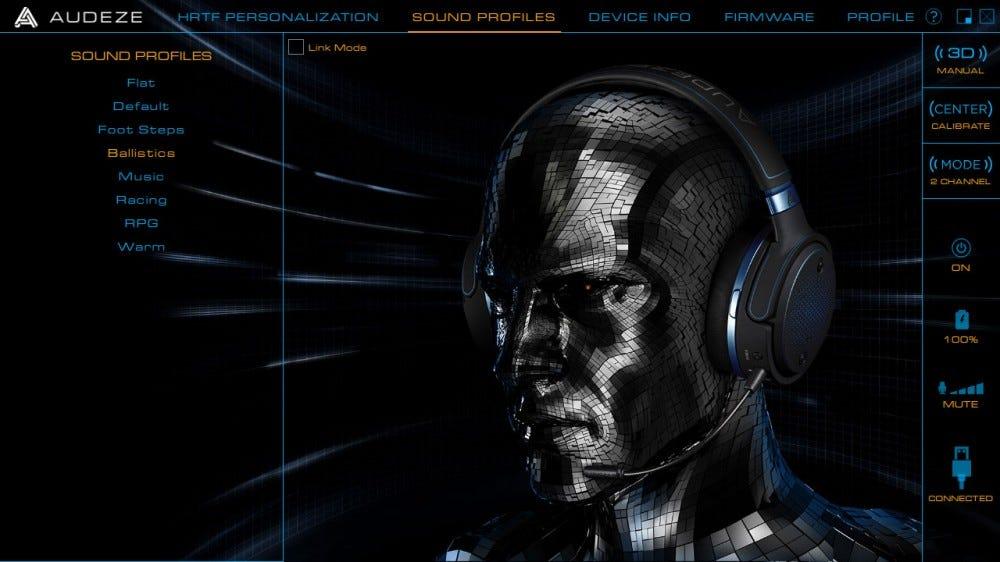 Audeze HQ szoftver, hangszínszabályzó