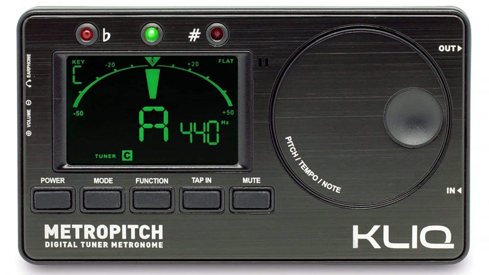 KLIQ MetroPitch joint metronome and tuner