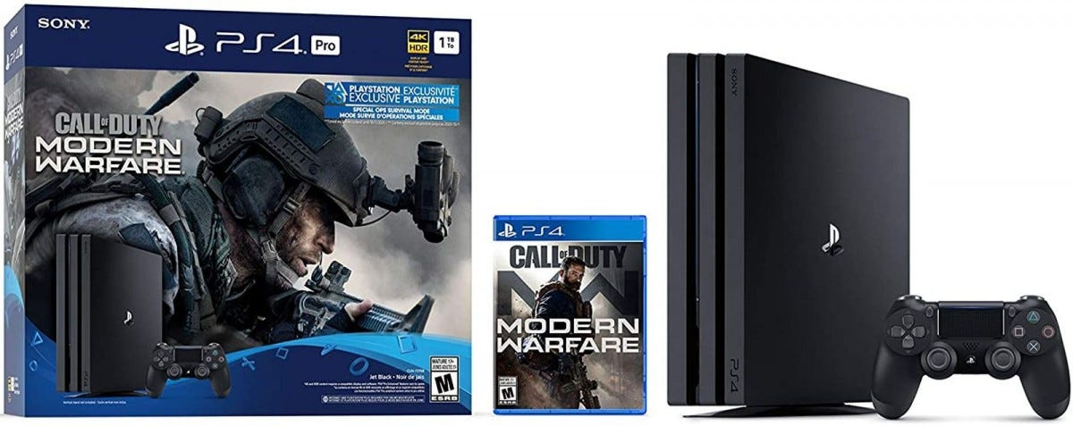 PS4 pro 1tb call of duty bundle