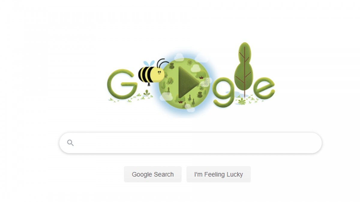 A screenshot of the Google Doodle banner.