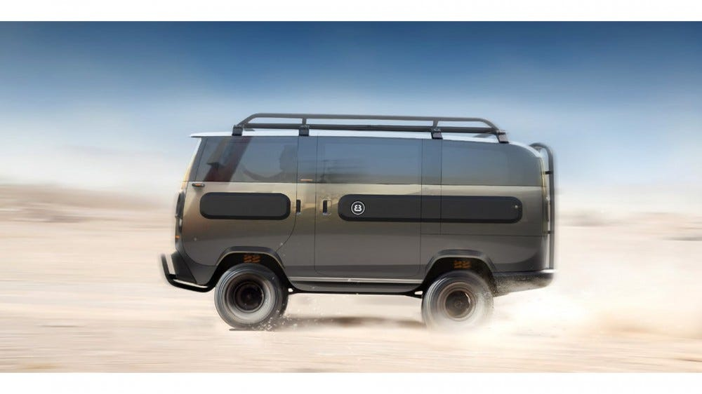 German-based ElectricBrands new eBussy is solar-powered, electric, and has modular compartments