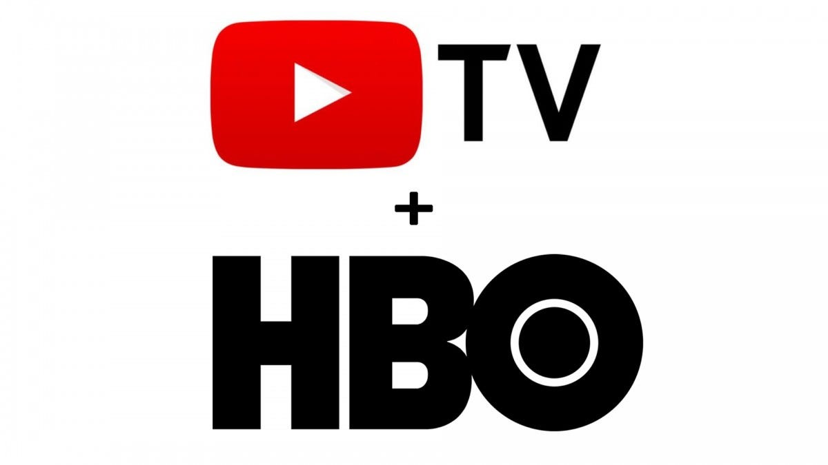 The HBO and YouTube TV logos.