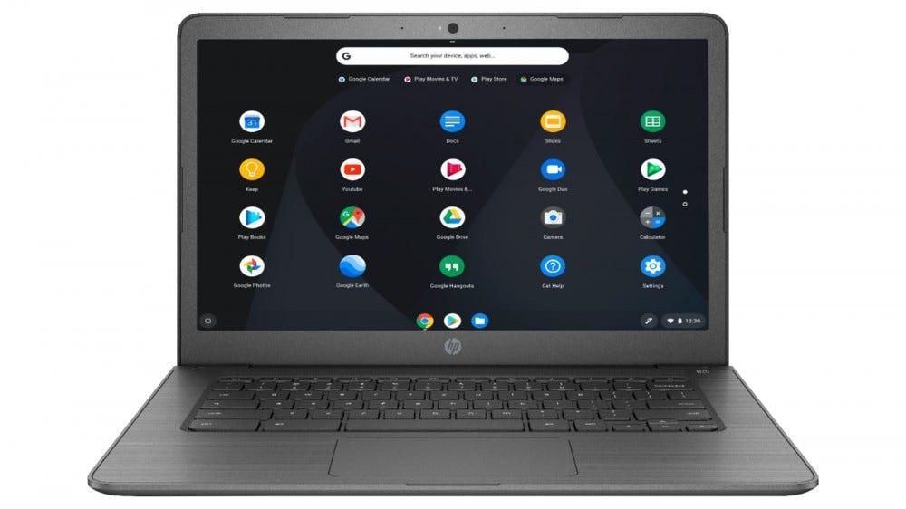 "HP 14"" Chromebook 4 GB of RAM"