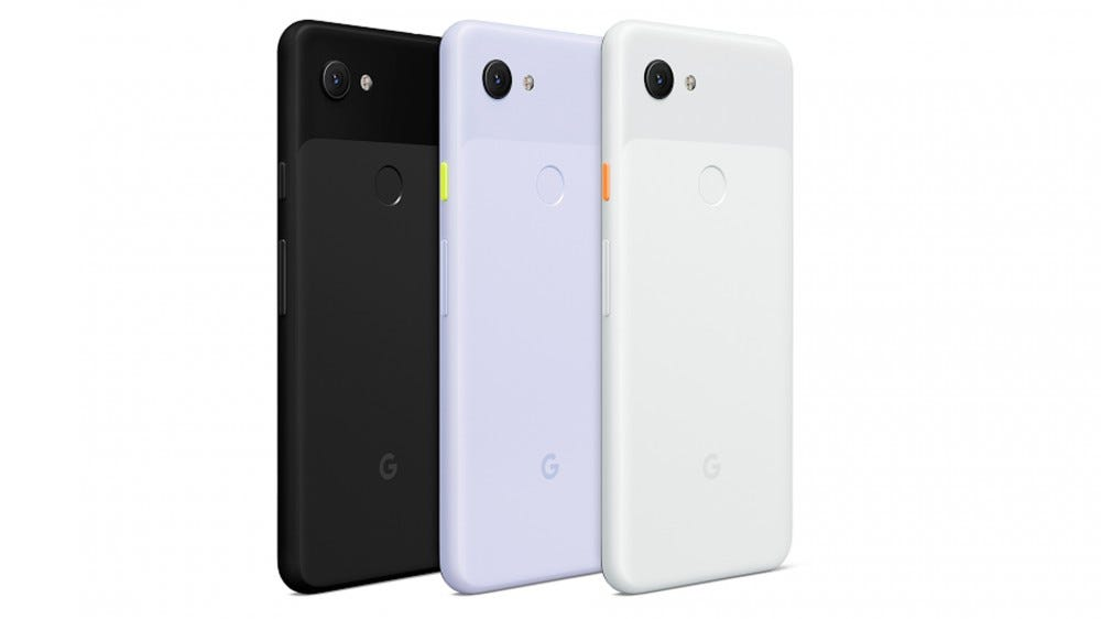 The Google Pixel 3a---a plastic phone that hardly weighs nothin'.