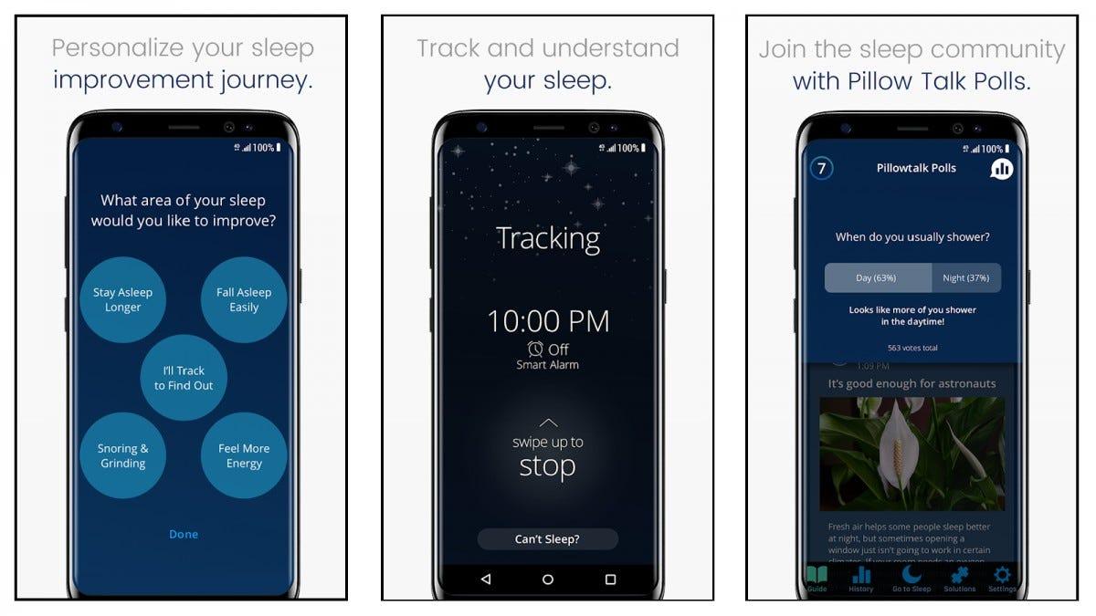 لقطات شاشة لتطبيق SleepScore