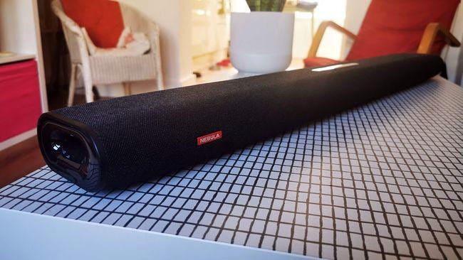showing soundbar full length from right end