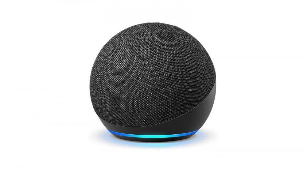 An Echo dot in sphere form.