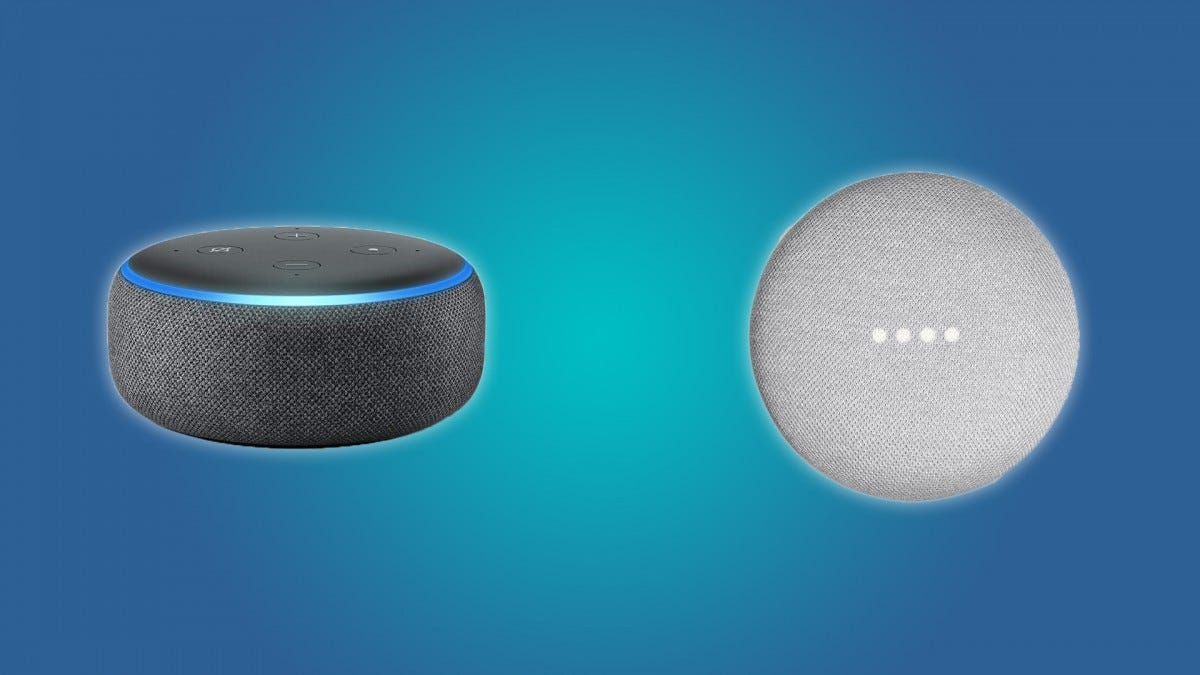 The Echo Dot and the Google Home Mini