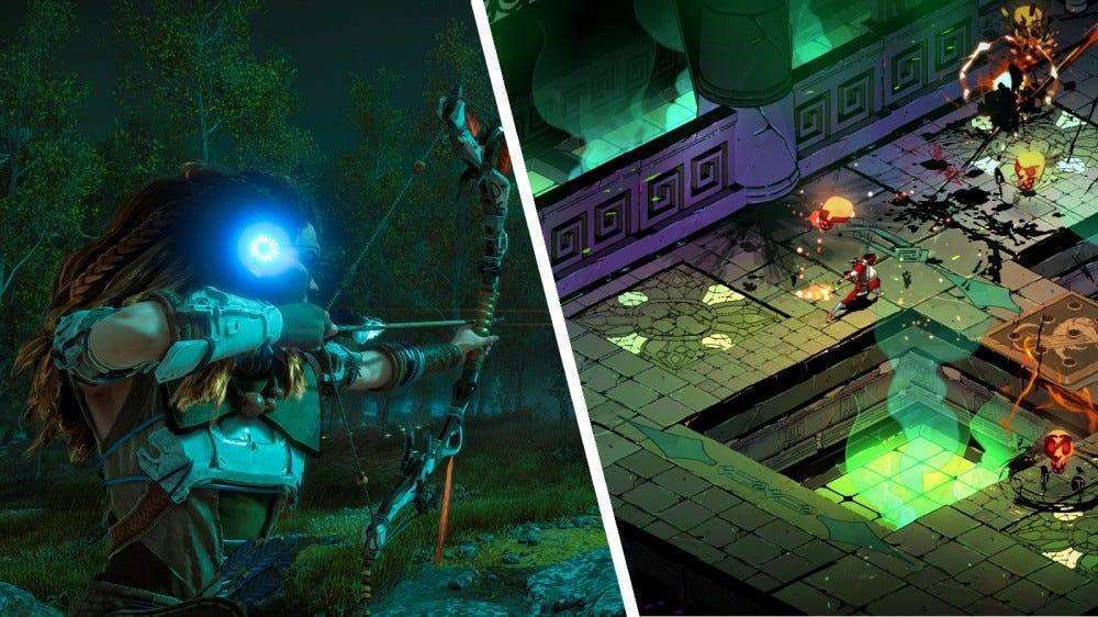 Screenshot of Horizon Zero Dawn and Hades