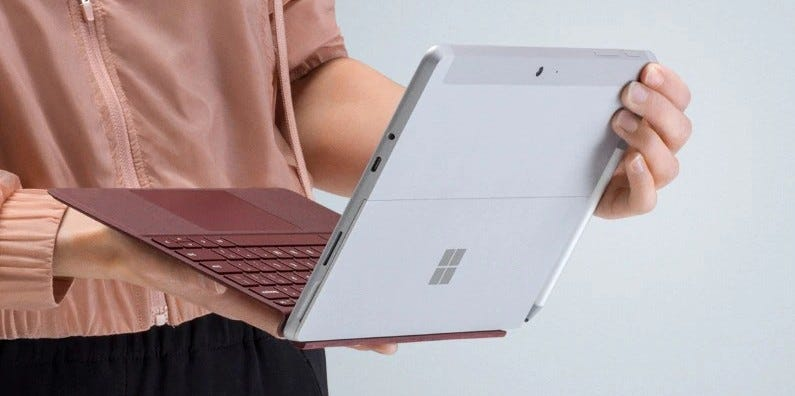 surface go, usb port, usb c, surface, tablet,