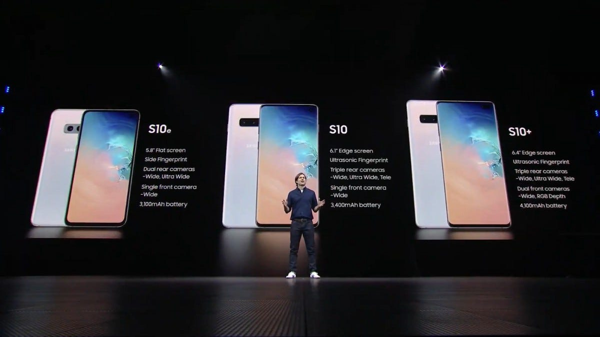 Galaxy S10E, S10, and S10+ Plus