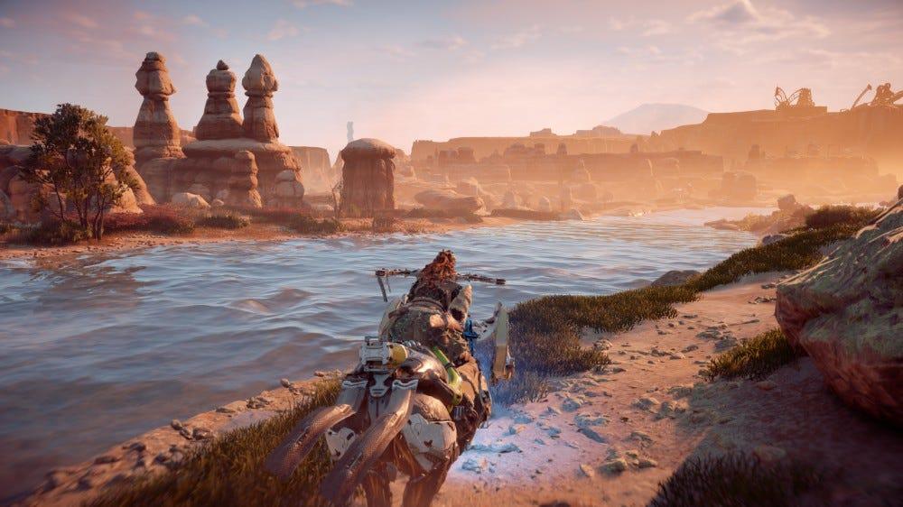 Horizon Zero Dawn riding screenshot