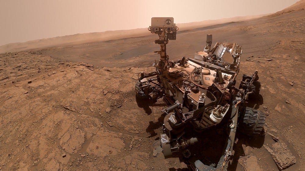 The Curiosity rover at 'Glen Etive,' a Mars sample site.