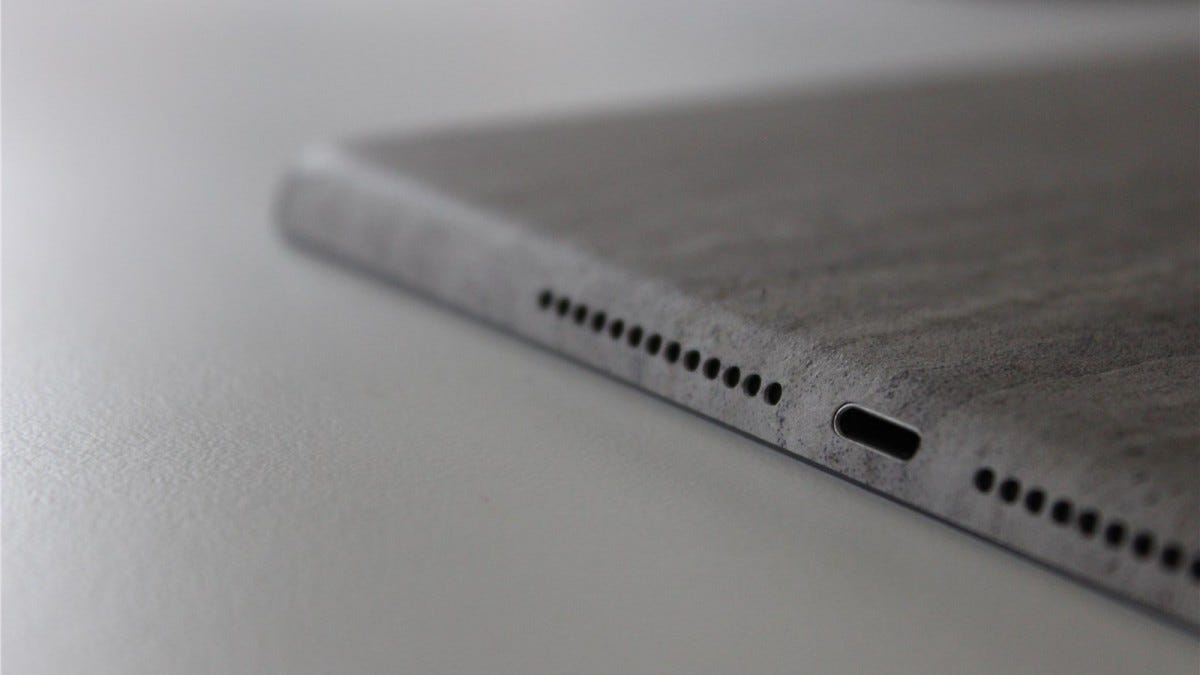dbrand Concrete skin on the iPad