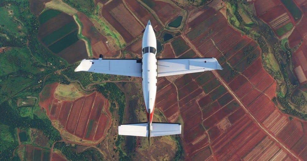 Screenshot from Microsoft Flight Simulator