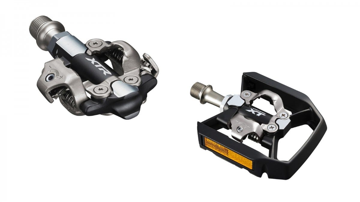 The Shimano clipless pedals.