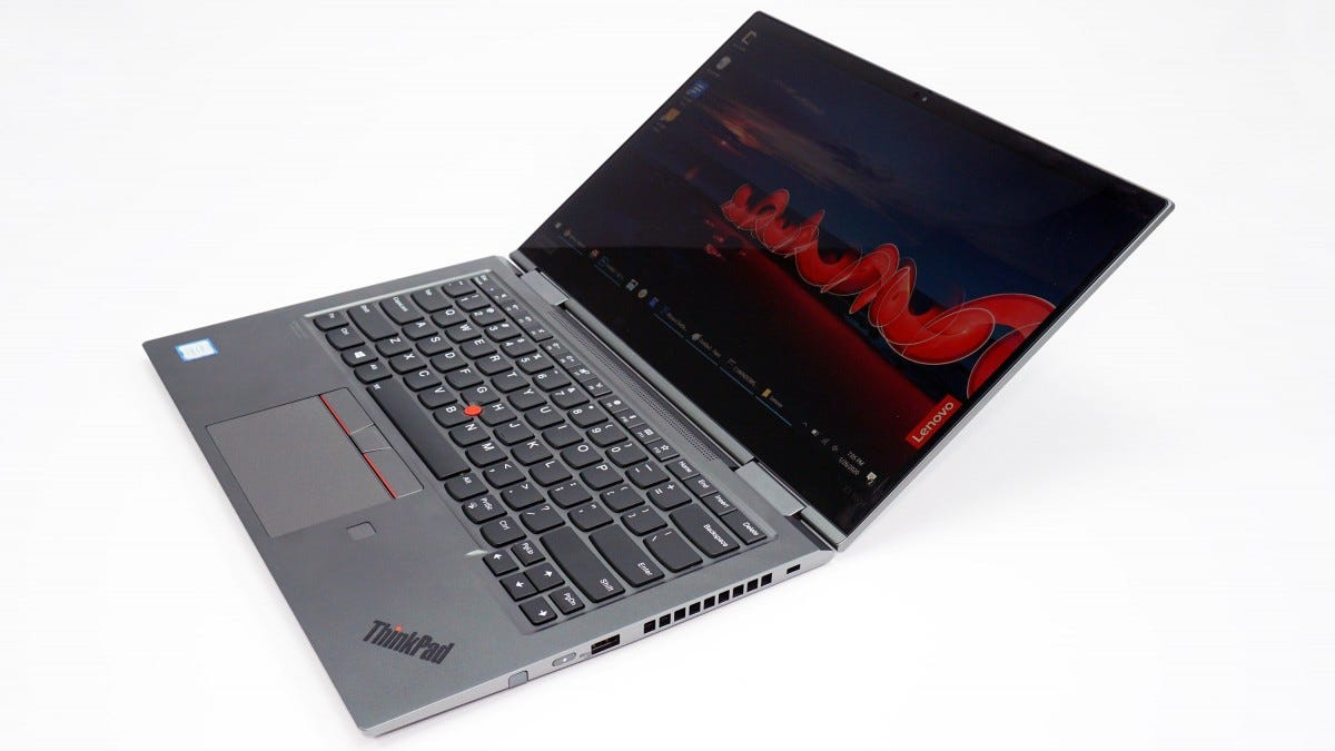 The Lenovo ThinkPad X1 Yoga.