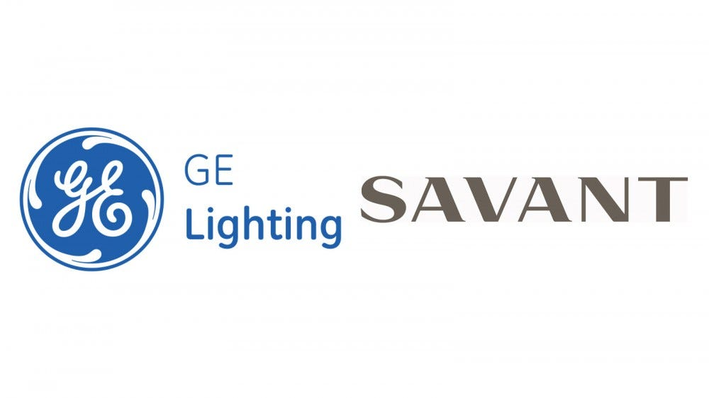 The GE Lighting and SAVANT logo