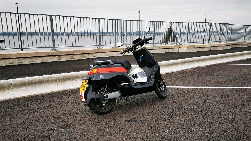 niu scooter right rear profile
