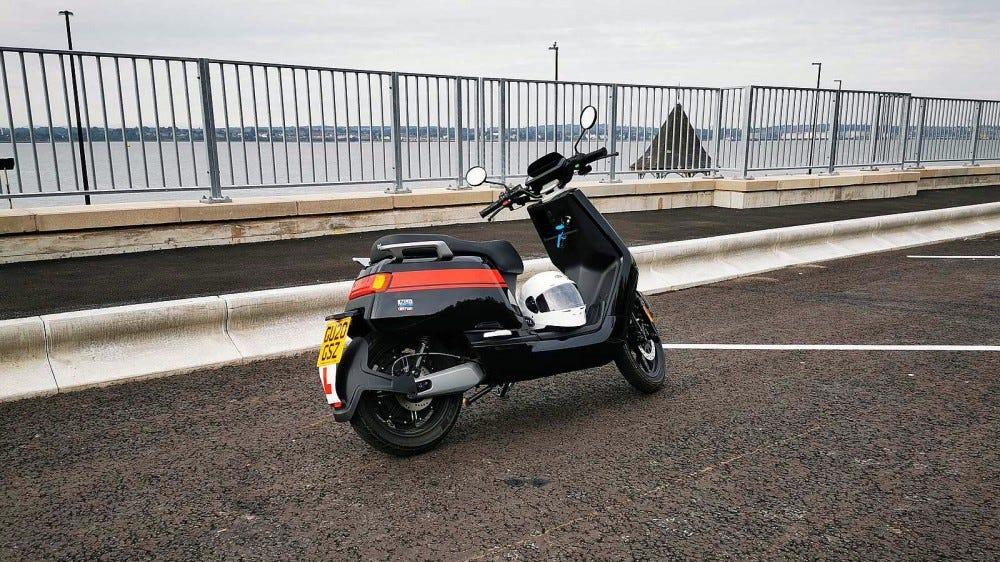 niu scooter right rear profile