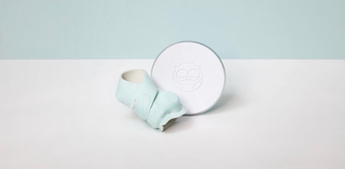 The Owlet Smart Sock and Base.