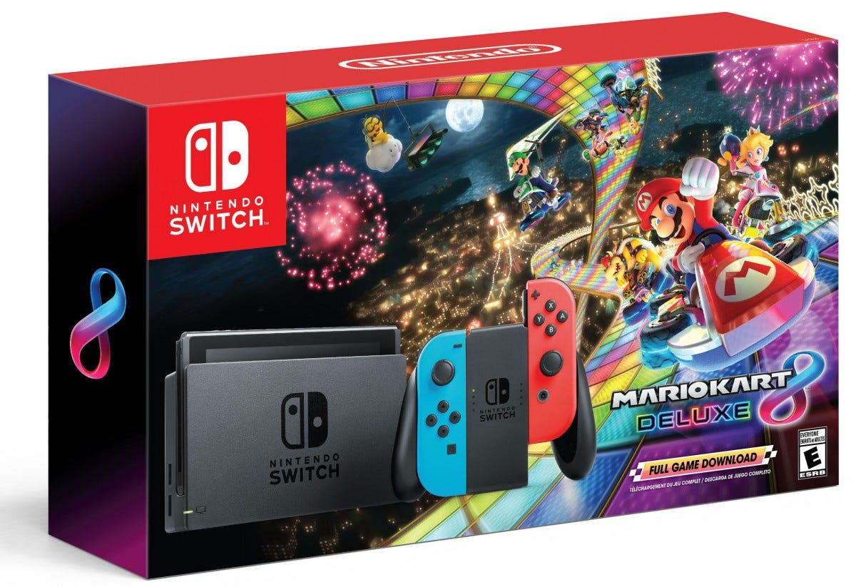 The Switch Mario Kart 8 bundle.