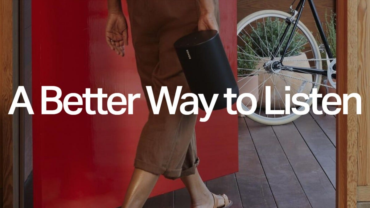 A photo from Sonos' site with the words A Better Way to Listen.
