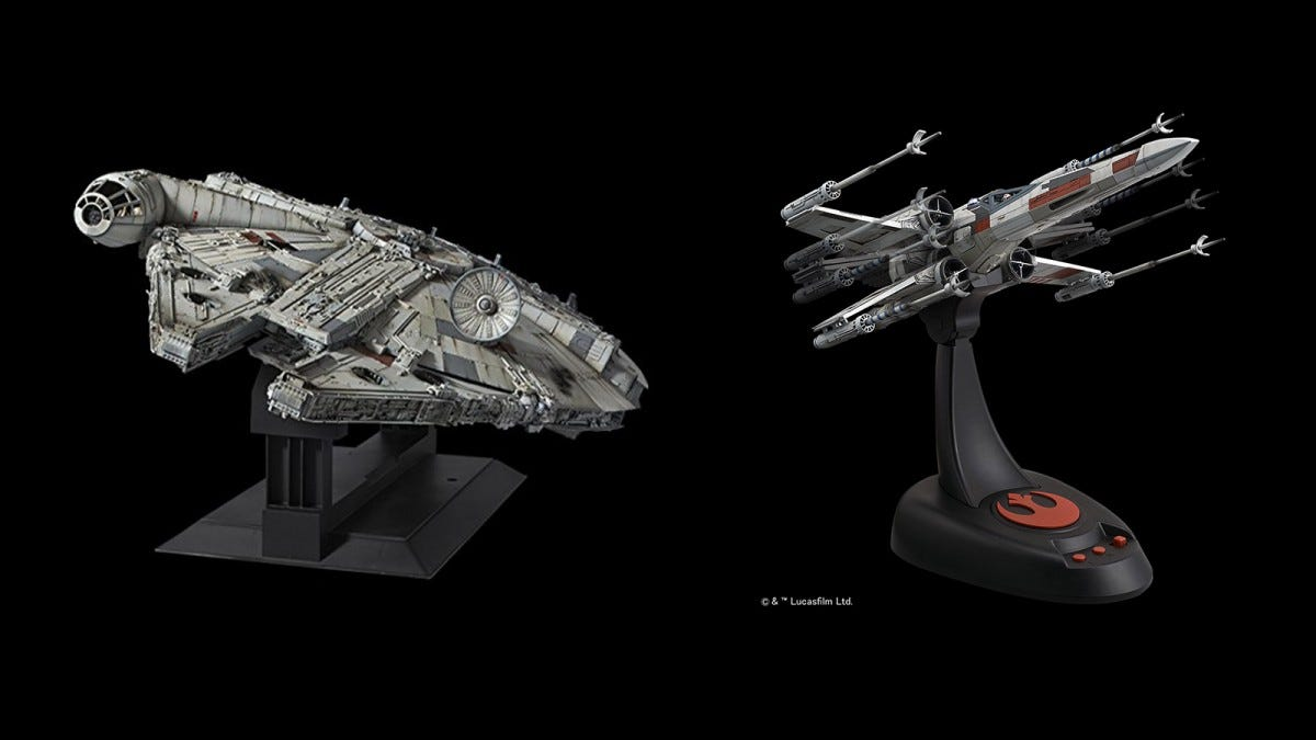 Bandai Hobby MIllenium Falcon and Moving X-Wing