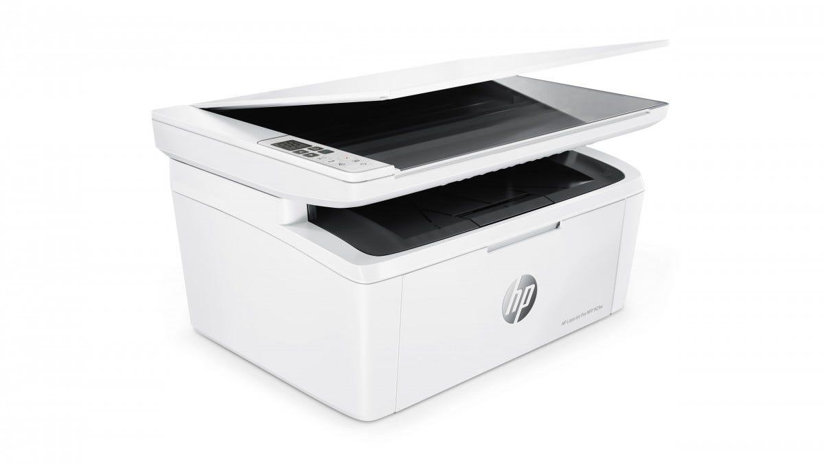 The HP LaserJet Pro M29w printer.