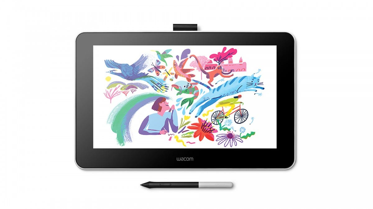 A photo of the Wacom One pen display.