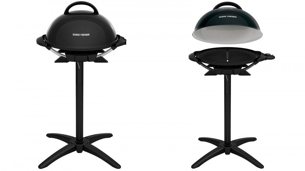 George Foreman GIO2000BK indoor outdoor grill for Father's Day 2020 temperature control nonstick grill 240 square inches