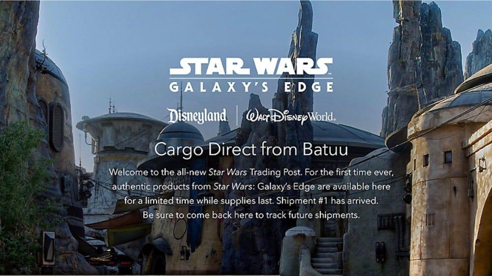 Disney Star Wars Galaxy's Edge online shop