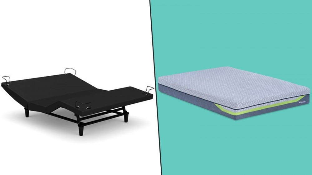 The R650 Adjustable Power Base (left) and the Dream Supreme II Hybrid Mattress (right)