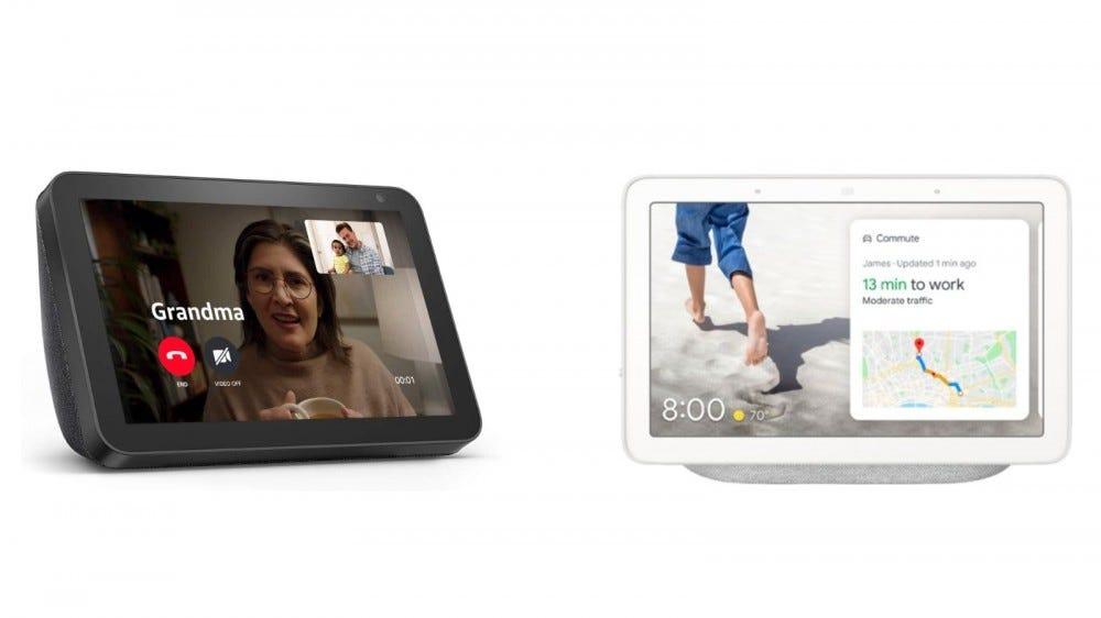 Google Nest Hub and Echo Show 8