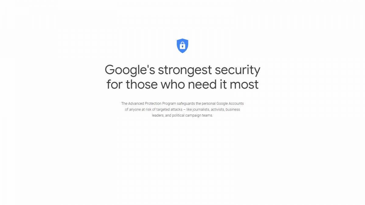 The Google Advanced Protection Logo