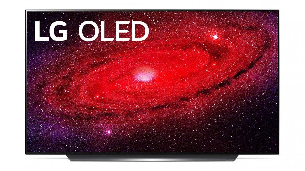 Render of LG CX OLED TV