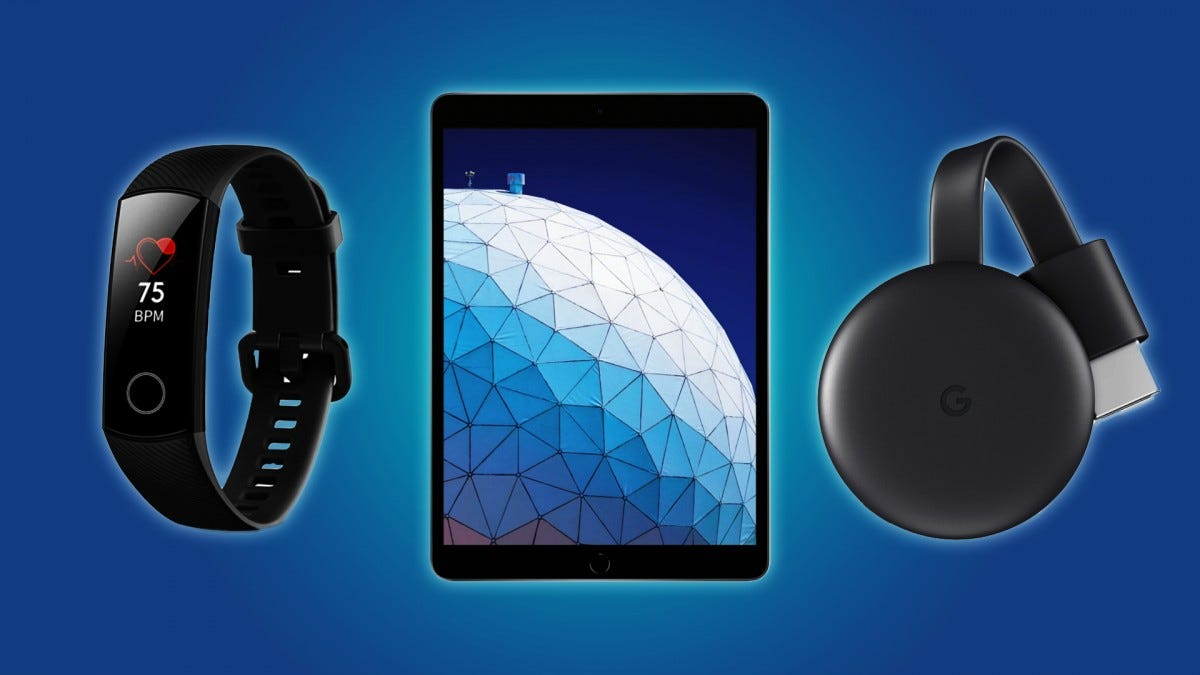 The Honor Band 4, the iPad Air, and the Google Chromecast