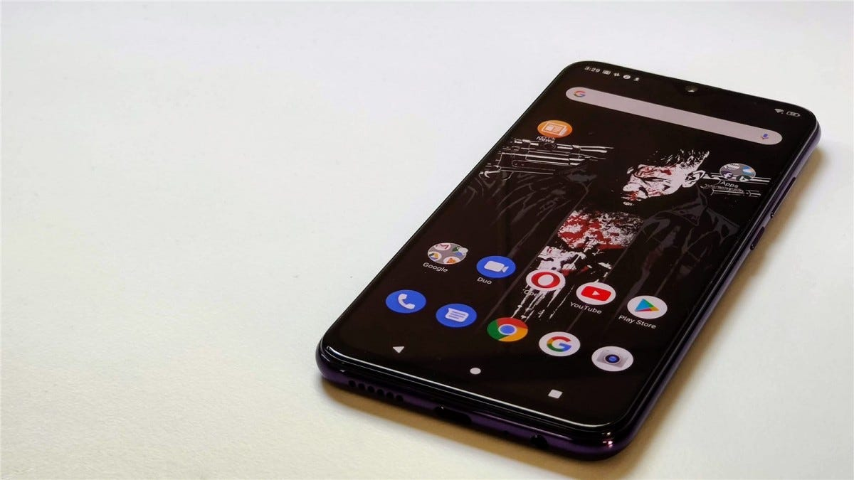 The Blu G9 Pro's screen