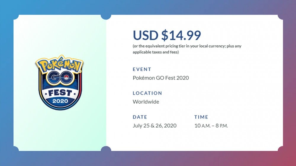 A Pokemon Go Fest digital ticket.