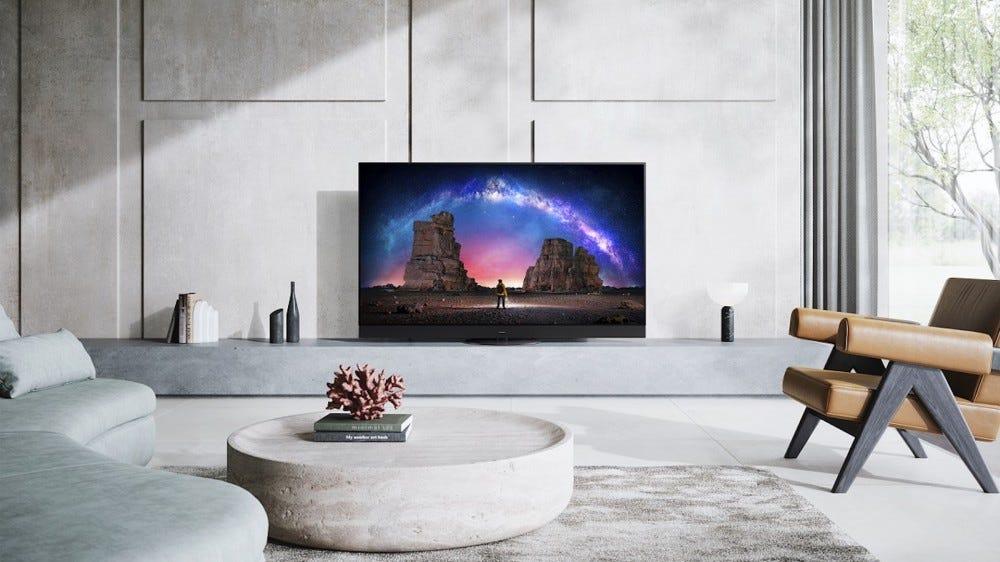 Panasonic JZ2000 4K OLED TV in modern living room