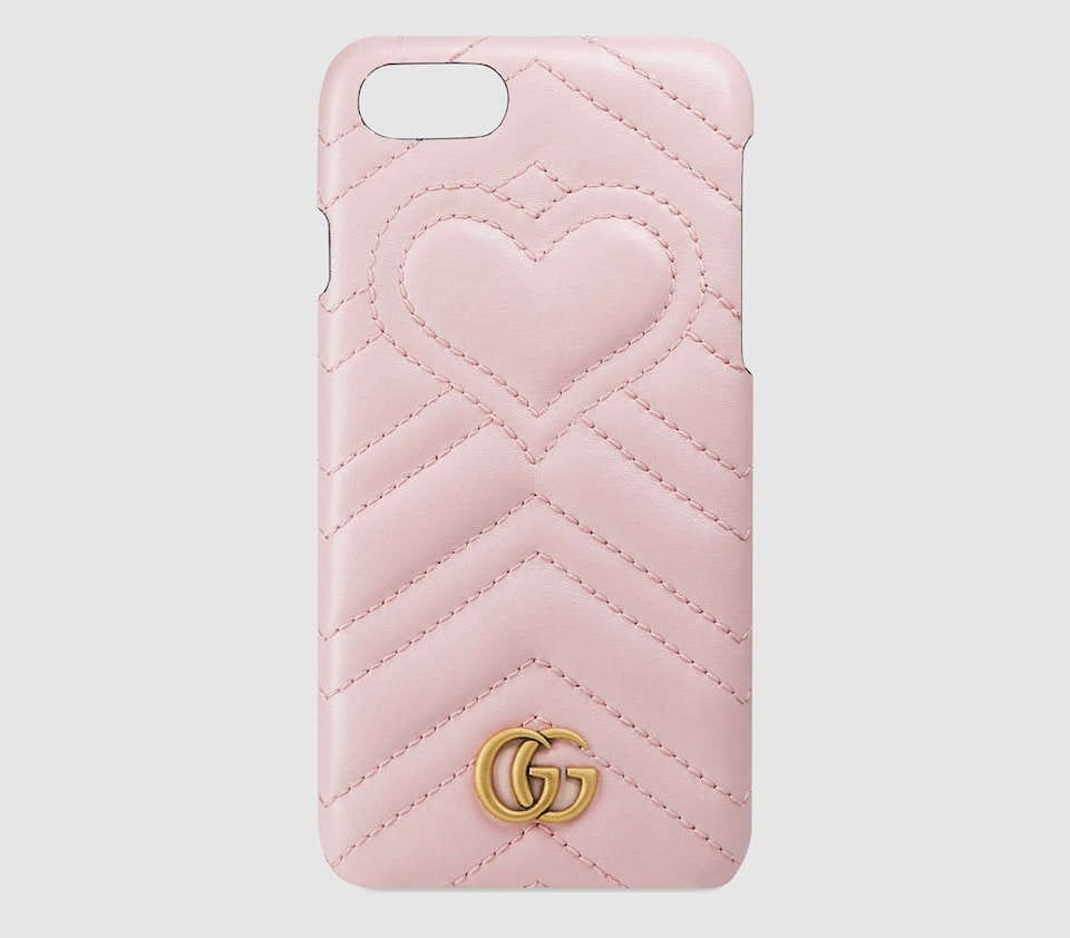 cc05e9932ade39 Technically an iPhone 7 case, the Gucci GG Marmont iPhone 7 case will also  happily keep your iPhone 8 secure too. Made in matelassé chevron leather—much  ...