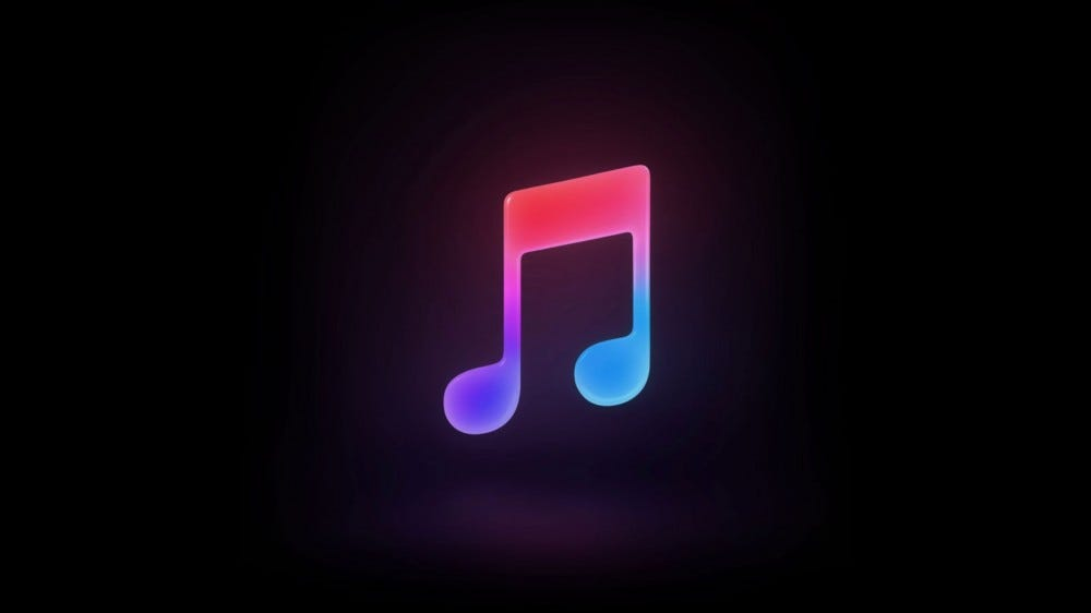 Apple Music logo on dark background