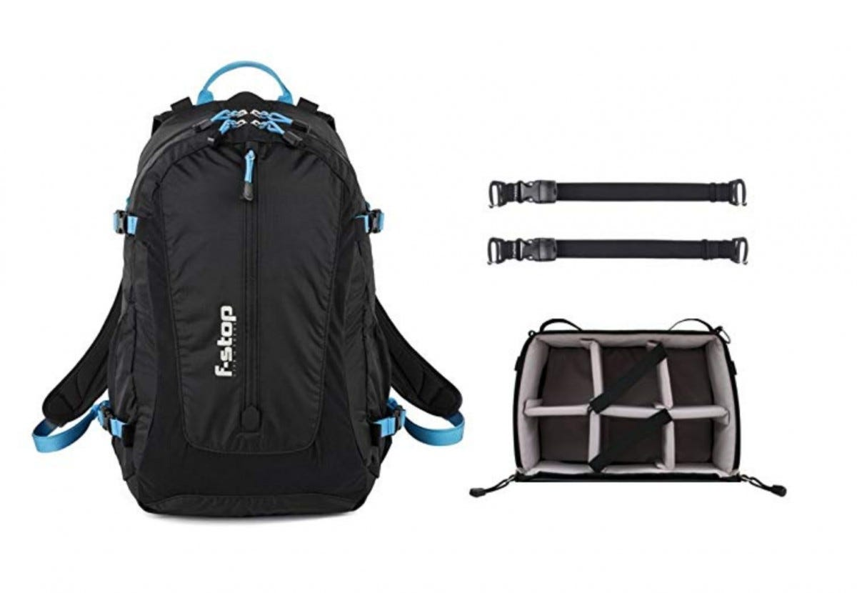 Black F-Stop photography backpack